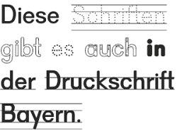 schriftart druckschrift bayern
