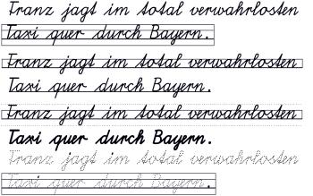 schulschrift bayern