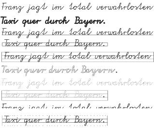 bayerische schulschrift